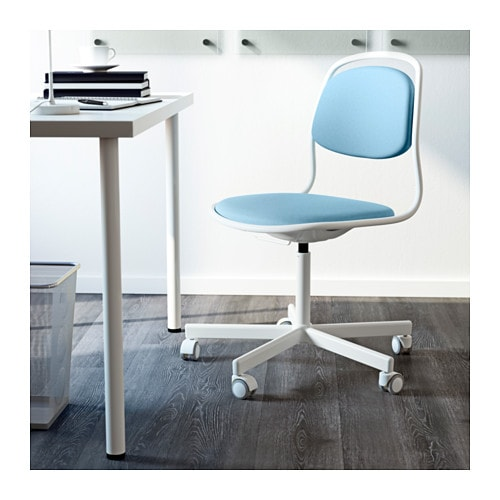 ikea swivel chair you sit comfortably since the chair is adjustable in height - Light Blue Desk Chair