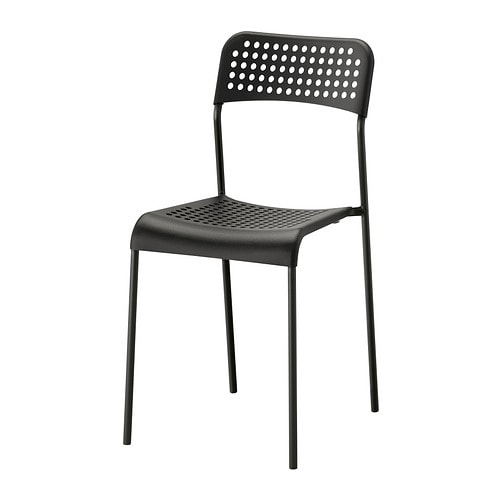 ADDE Chair IKEA You can stack the chairs, so they take less space when you're not using them.