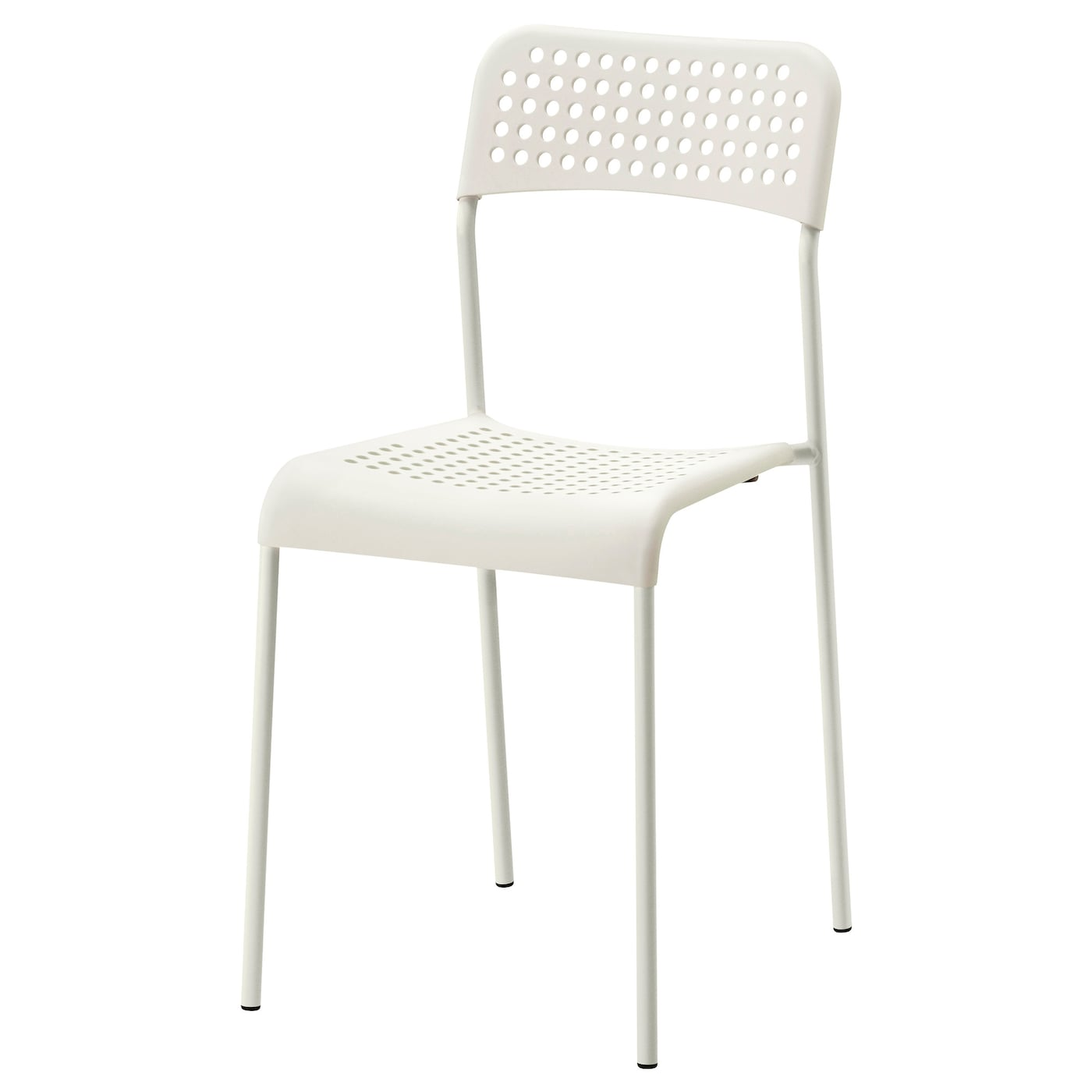 IKEA ADDE chair You can stack the chairs, so they take less space when you
