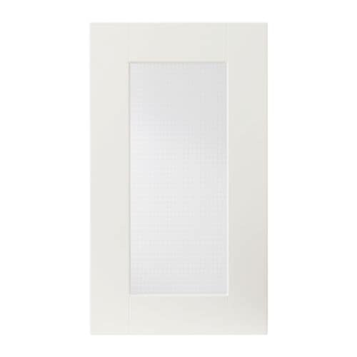ÄDEL Glass door IKEA Covered with foil; gives an impact-resistant, easy clean surface.  The door can be mounted to open from the left or right.