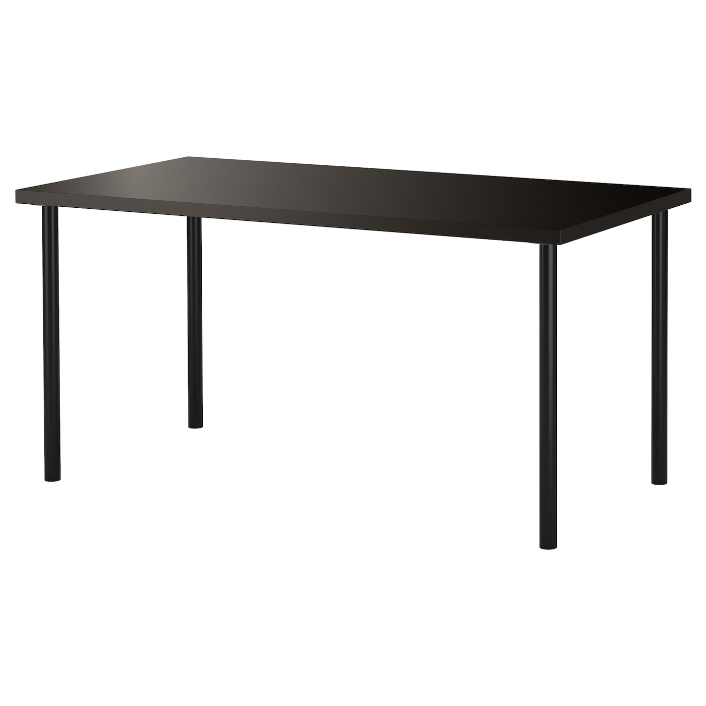Adils linnmon table black brown black 150x75 cm ikea for Ikea desk black