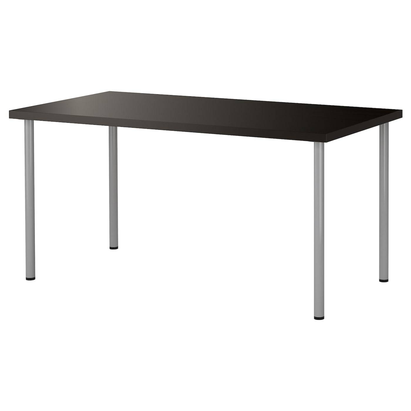 Adils Linnmon Table Black Brown Silver Colour 150 X 75 Cm
