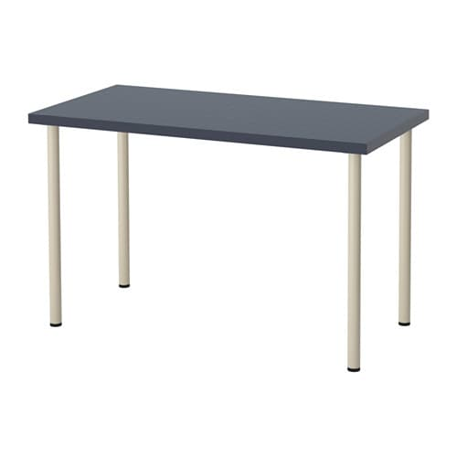 Ikea gustav  ADILS/LINNMON Table Geometric blue/beige 120x60 cm - IKEA