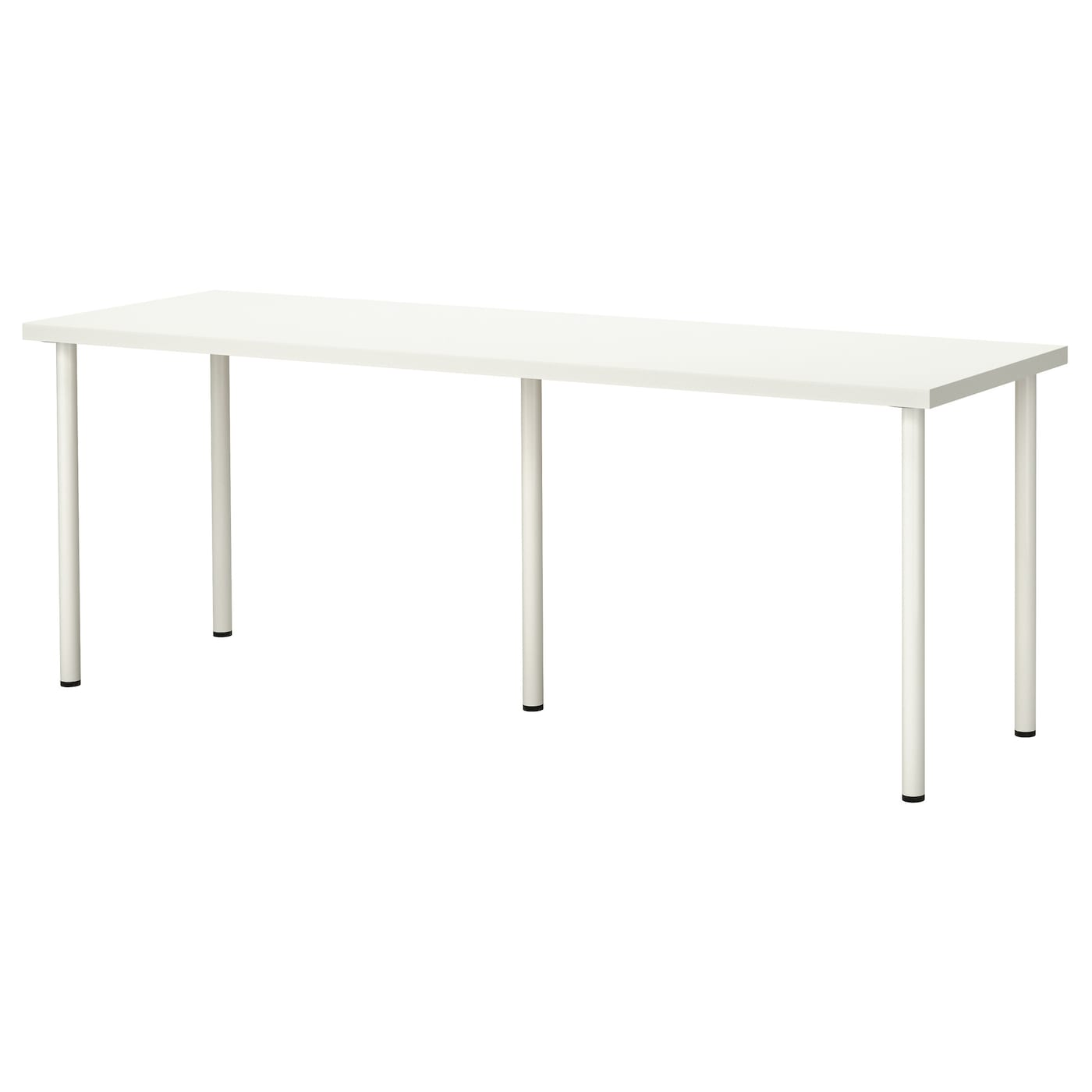 Adils linnmon table white 200x60 cm ikea for Long desk table for two