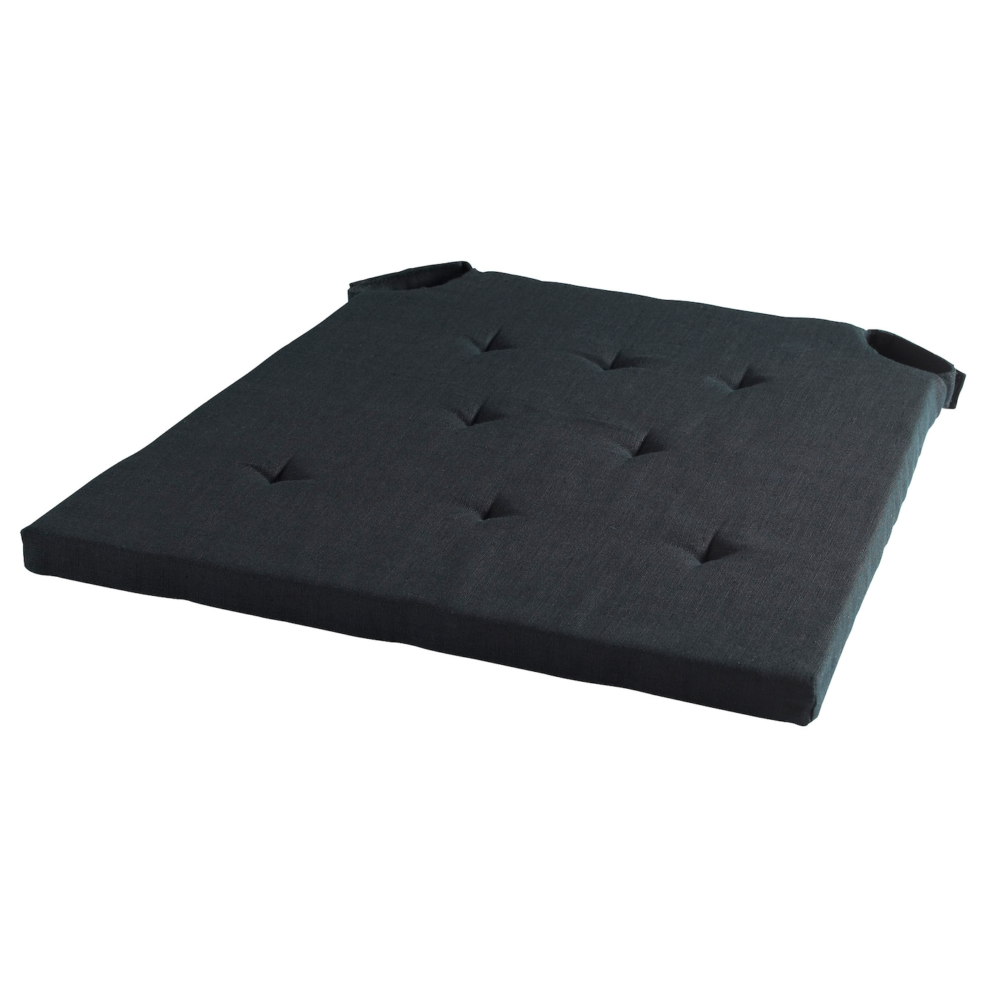 Black chair cushion - Ikea Admete Chair Pad Polyurethane Foam Provides Great Comfort And Long Lasting Support