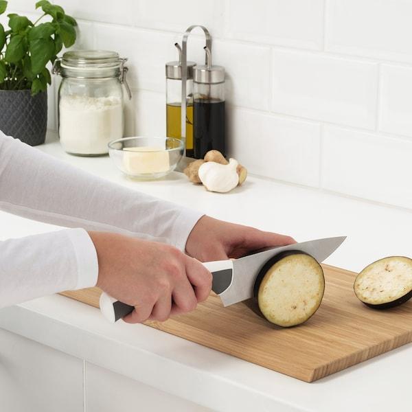 ÄNDLIG 3-piece knife set, light grey/white