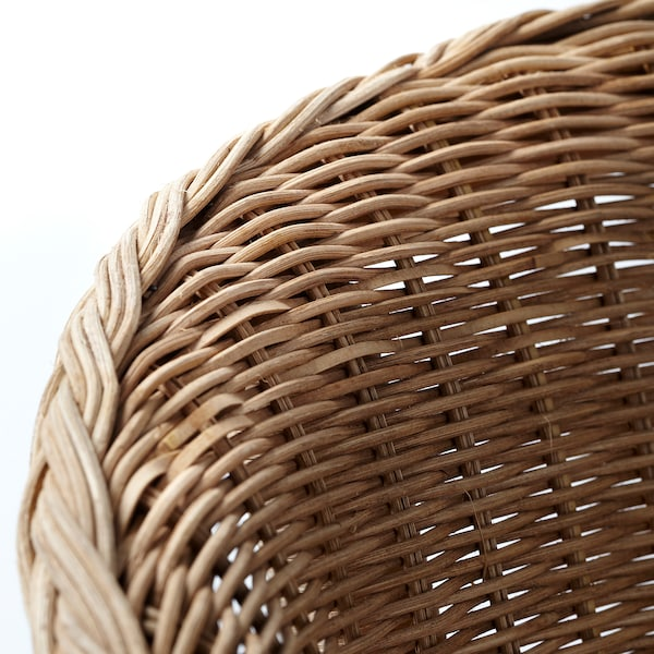 AGEN Armchair with cushion, rattan/Norna natural