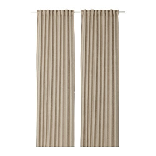 aina curtains 1 pair beige 145 x 250 cm ikea. Black Bedroom Furniture Sets. Home Design Ideas