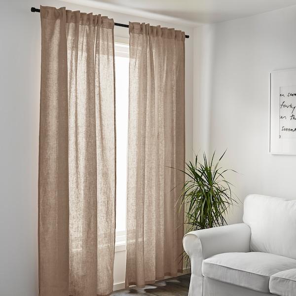 AINA curtains, 1 pair beige 250 cm 145 cm 1.60 kg 3.63 m² 2 pack