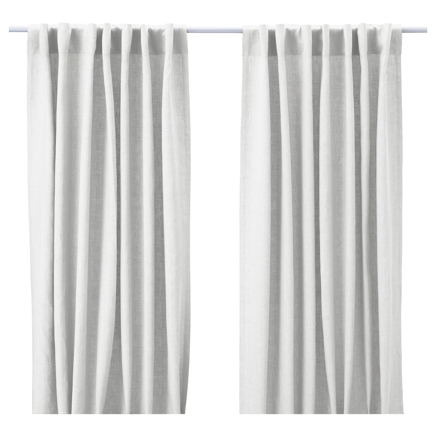 Aina curtains 1 pair white 145x250 cm ikea for White curtains ikea