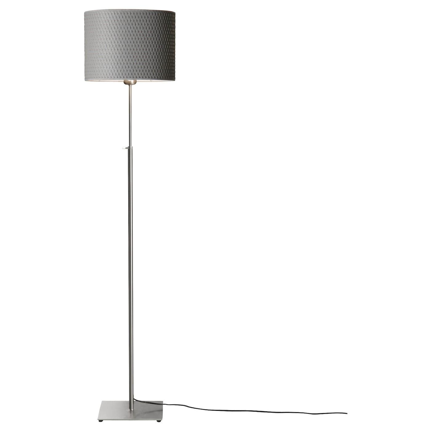 ALNG Floor lamp Nickelplatedgrey IKEA