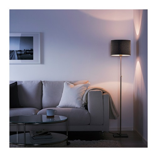 ikea alang floor lamp nickel plated white. Black Bedroom Furniture Sets. Home Design Ideas