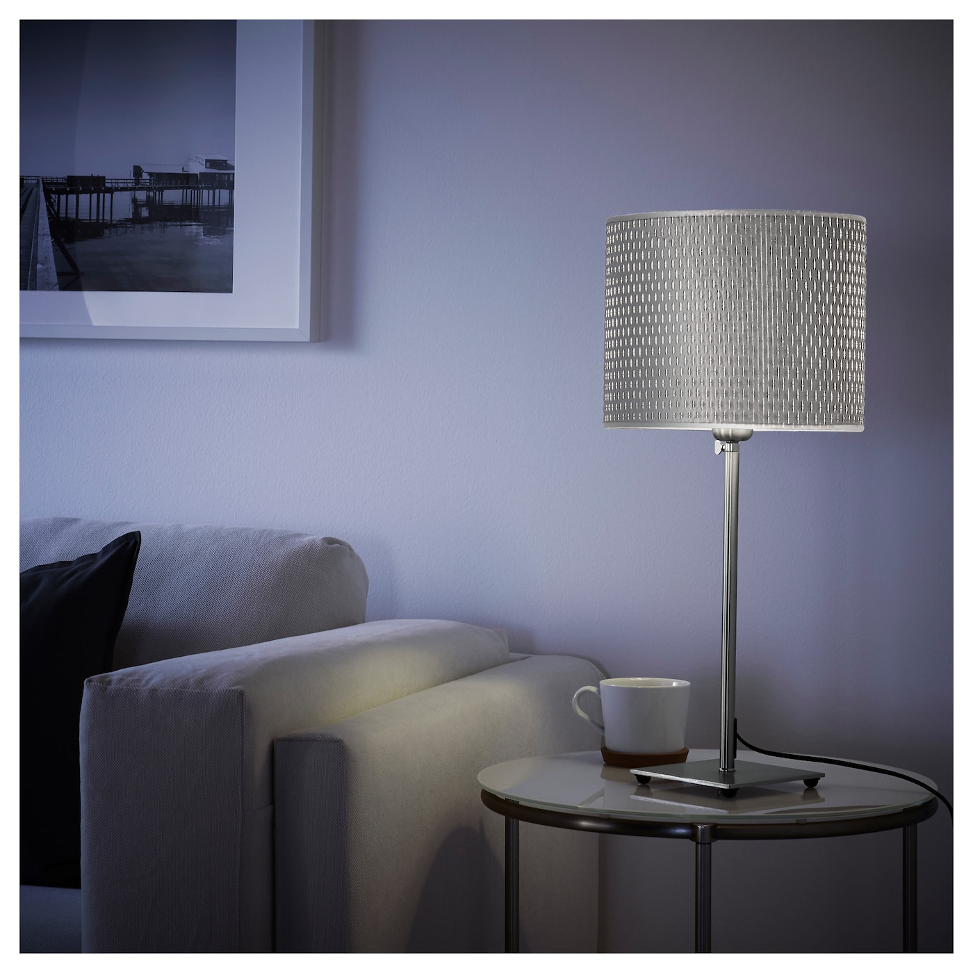 al ng table lamp nickel plated grey ikea. Black Bedroom Furniture Sets. Home Design Ideas