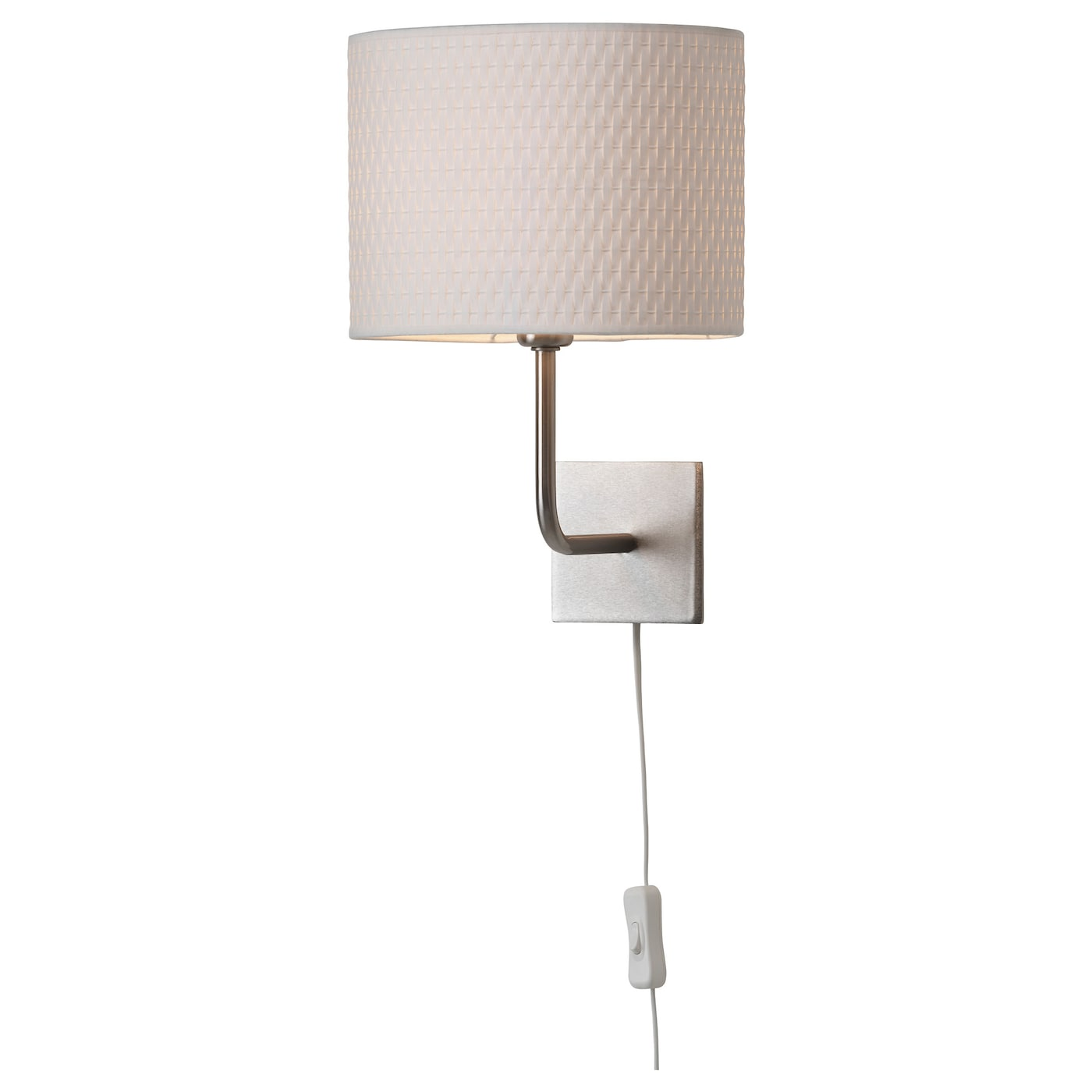 ALaNG Wall lamp Nickel-plated/white - IKEA