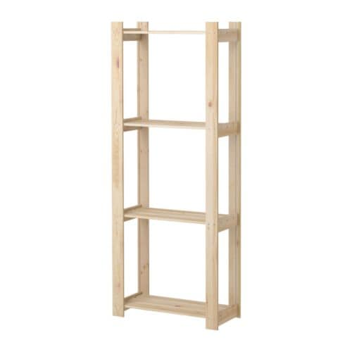ALBERT Shelving unit IKEA Untreated wood; can be treated with oil, wax or glazing paint for increased durability and a personal touch.