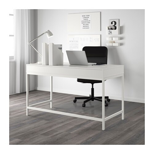 Alex Desk White 131x60 Cm Ikea