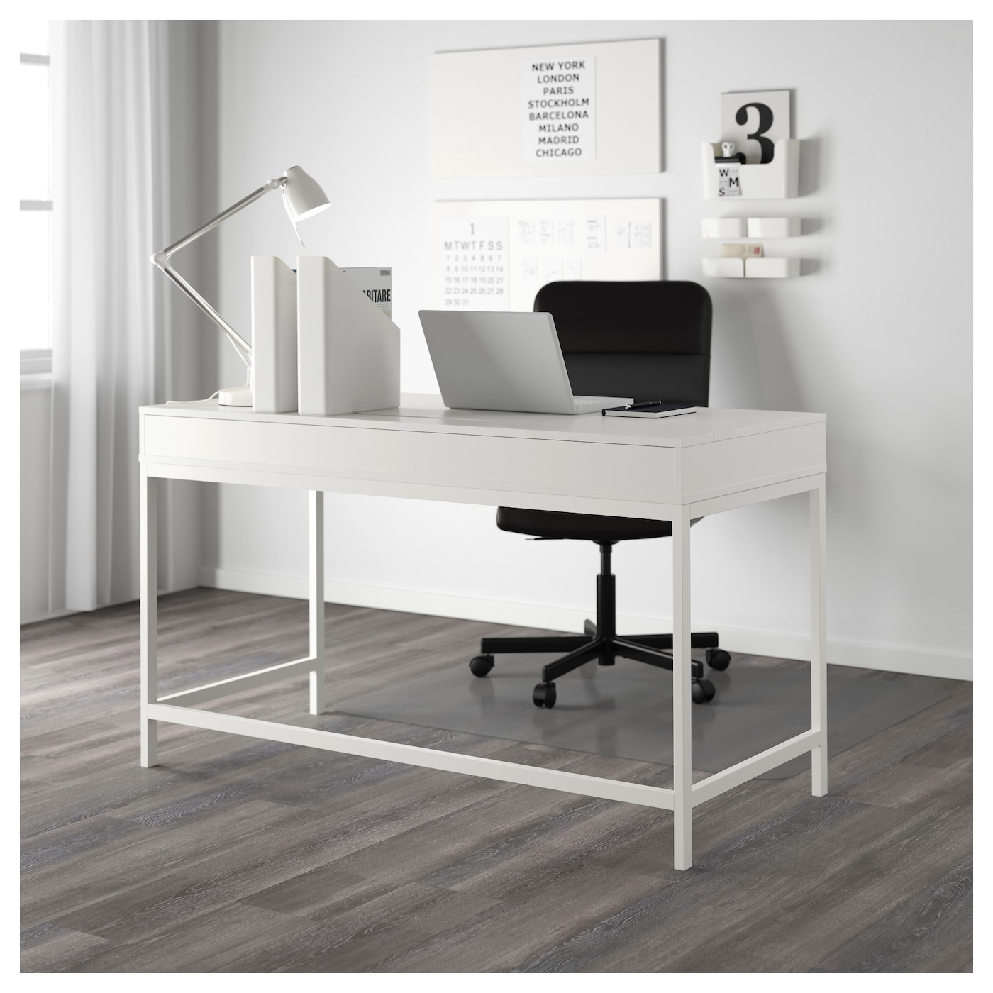 alex desk white 131x60 cm ikea. Black Bedroom Furniture Sets. Home Design Ideas