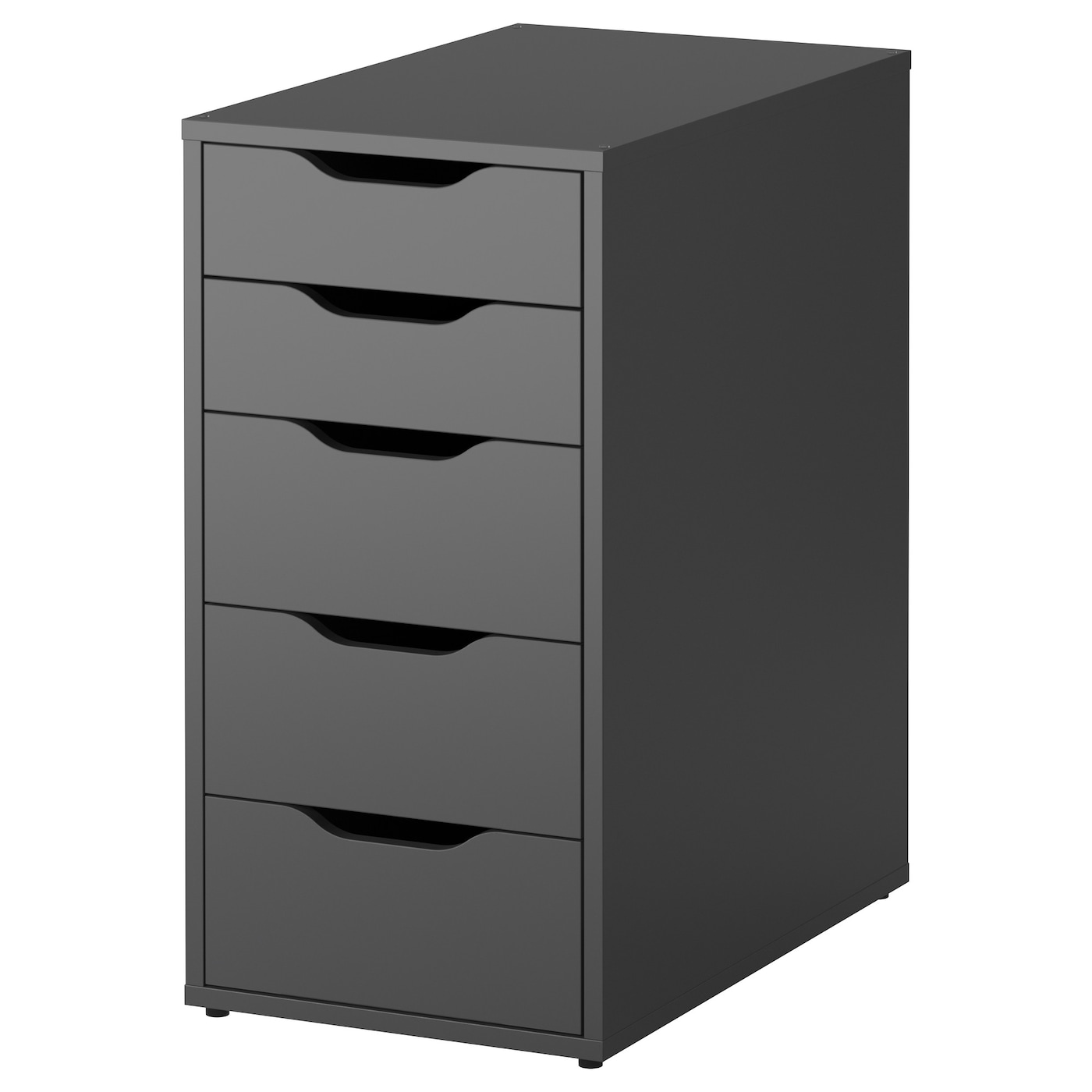 IKEA ALEX drawer unit Drawer stops prevent the drawers from being pulled out too far.
