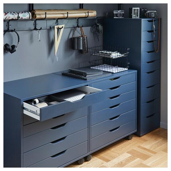 ALEX drawer unit on castors blue 67 cm 48 cm 66 cm