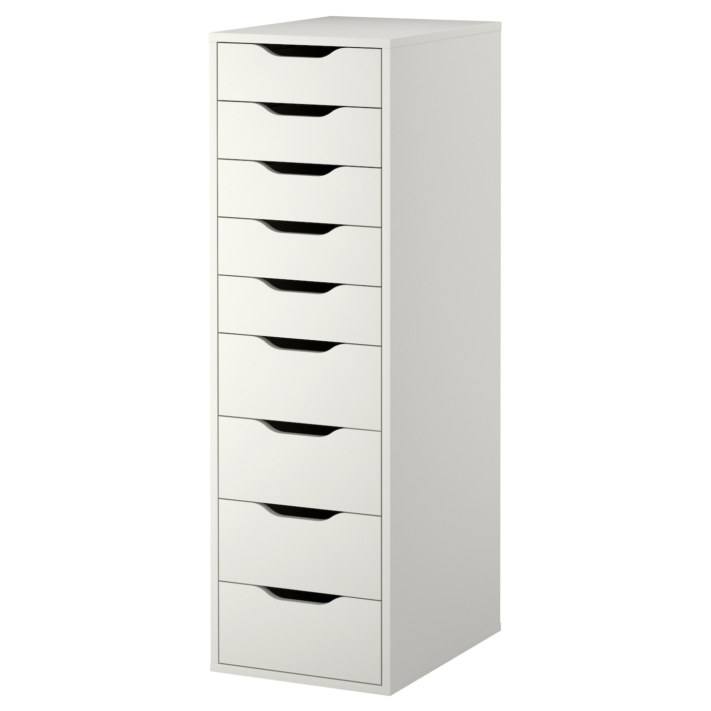 ALEX white, Drawer unit with 9 drawers