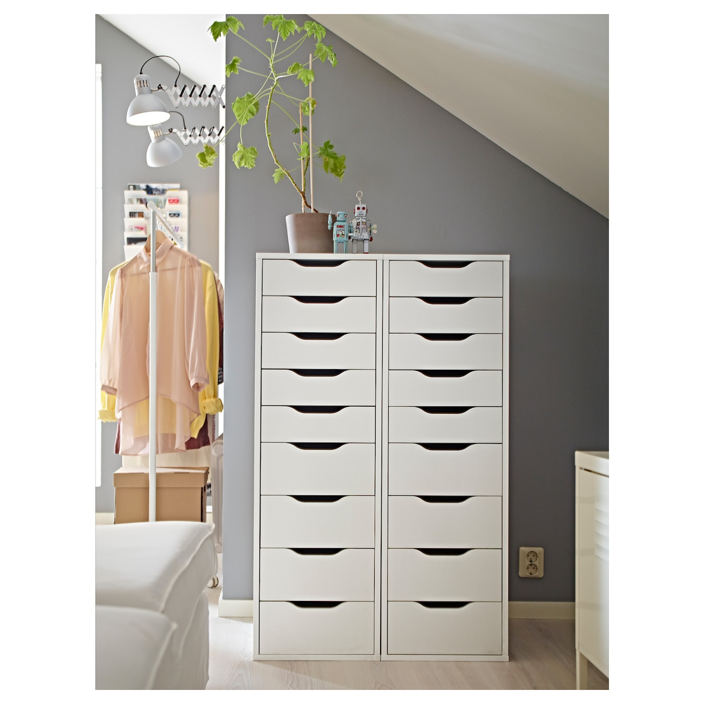 Alex drawer unit with drawers white cm ikea