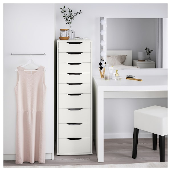 ALEX drawer unit with 9 drawers white 36 cm 48 cm 116 cm