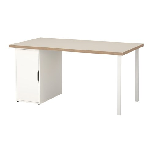 IKEA ALEX/LINNMON table Can be placed in the middle of a room because the back is finished.