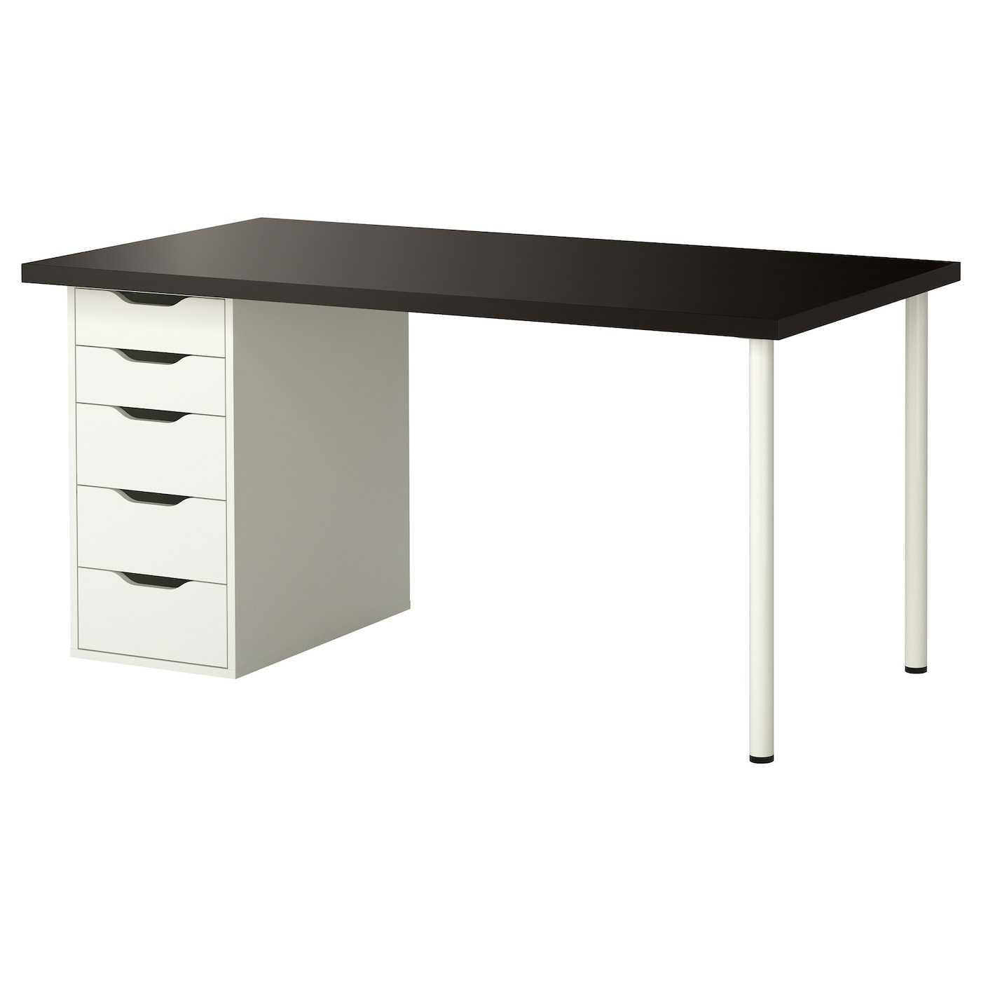 ikea linnmon desk with alex drawers hostgarcia. Black Bedroom Furniture Sets. Home Design Ideas