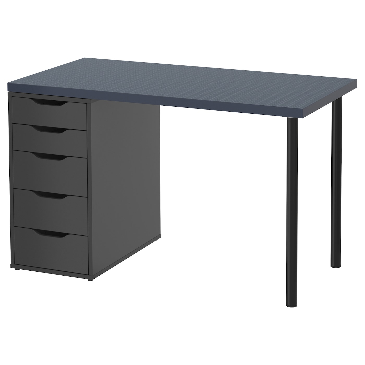 alex linnmon table geometric blue black 120 x 60 cm ikea. Black Bedroom Furniture Sets. Home Design Ideas