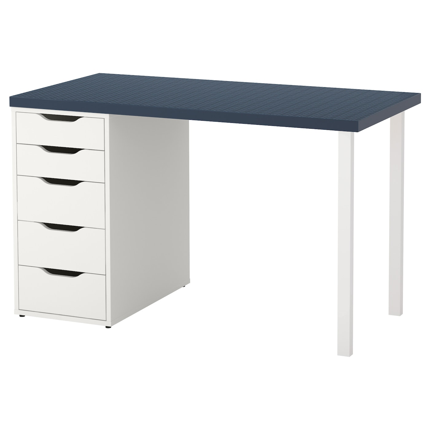 alex linnmon table geometric blue white 120x60 cm ikea