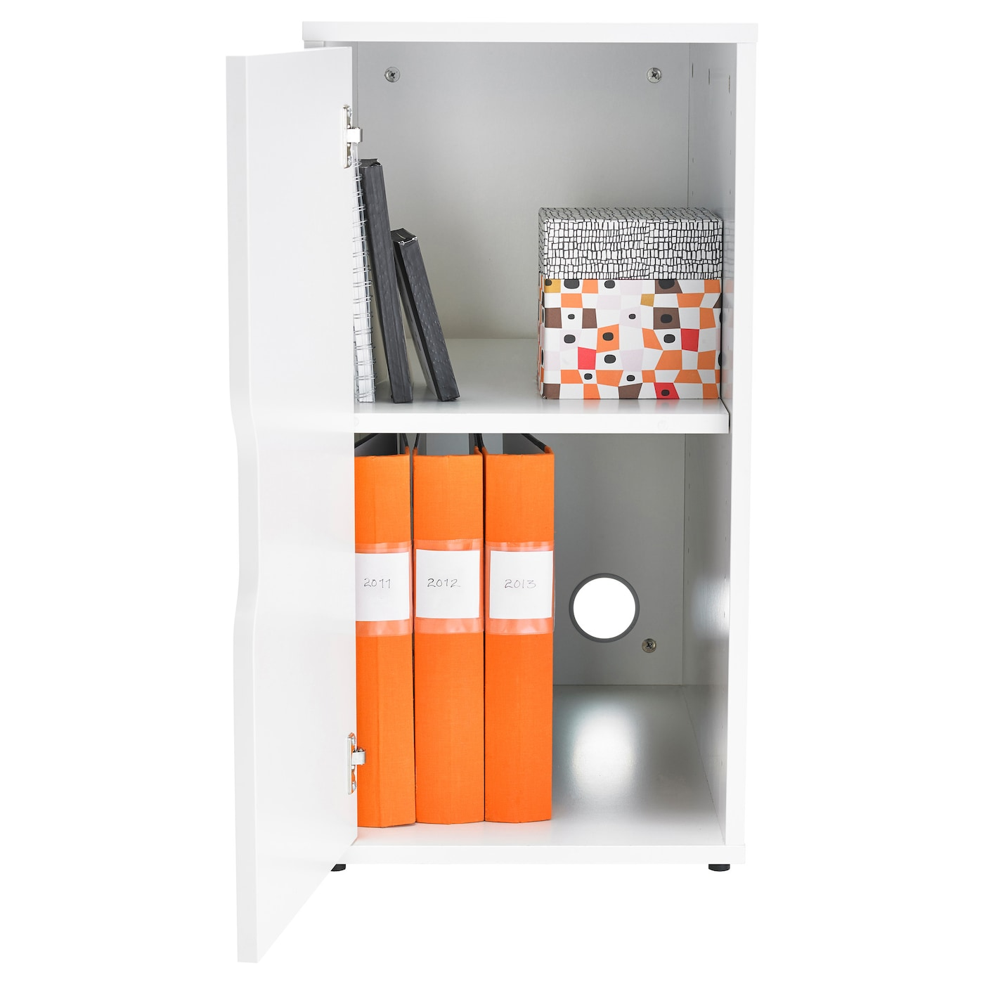 IKEA ALEX storage unit Can be placed in the middle of a room because the back is finished.