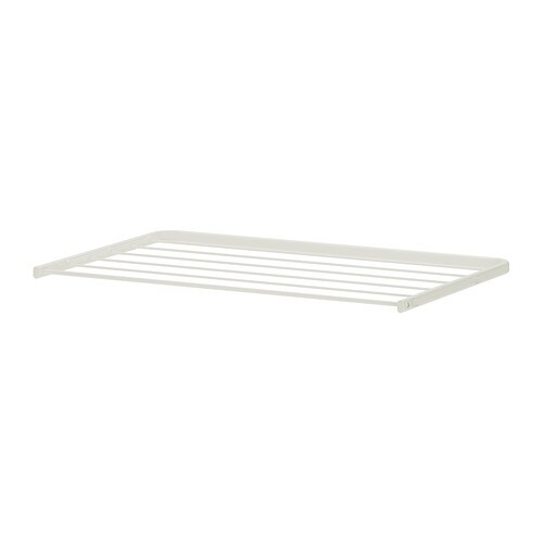 ALGOT Drying rack IKEA Just click in on ALGOT brackets – no tools needed.  Can also be used in bathrooms and other damp areas indoors.