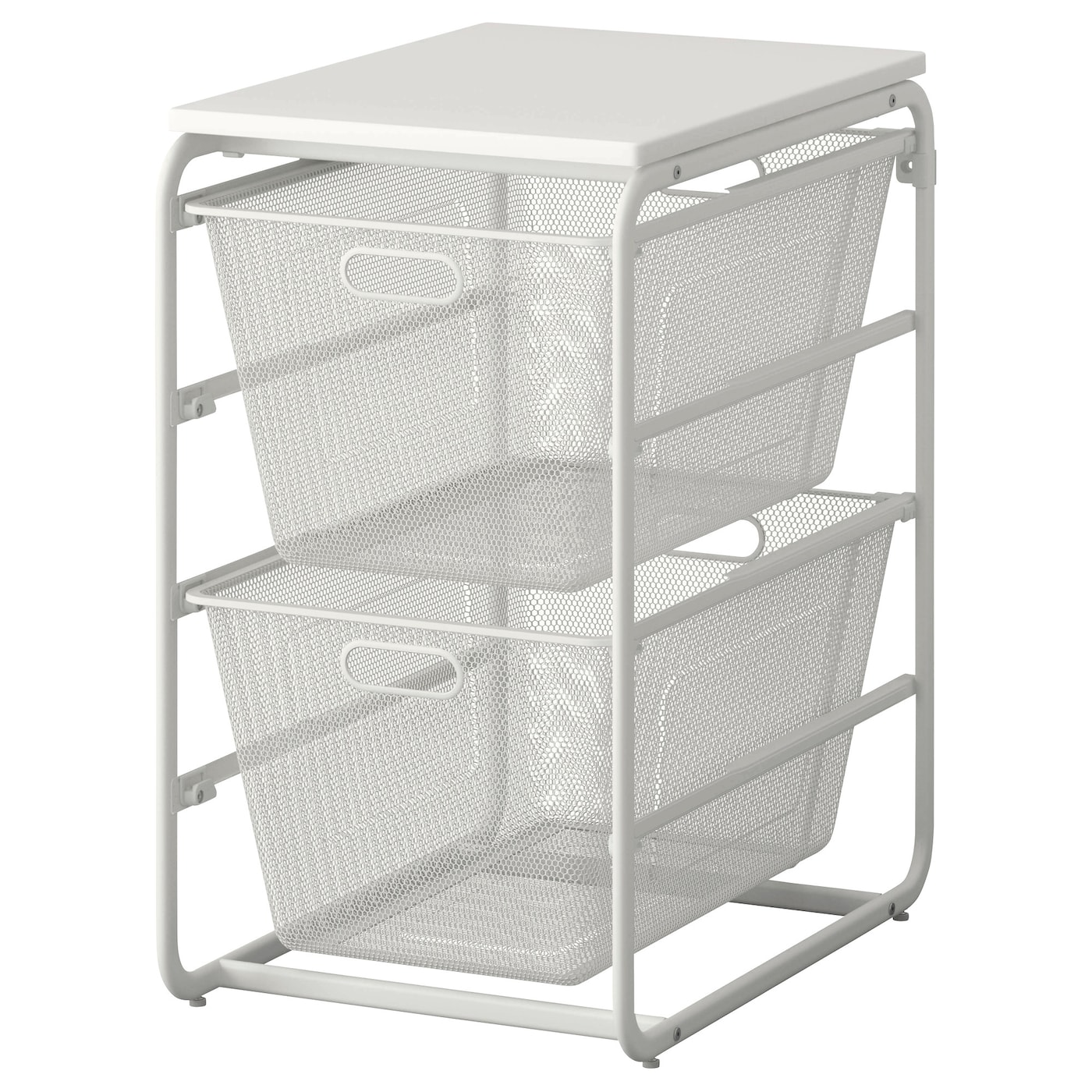 algot frame 2 mesh baskets top shelf white 41x60x75 cm ikea. Black Bedroom Furniture Sets. Home Design Ideas