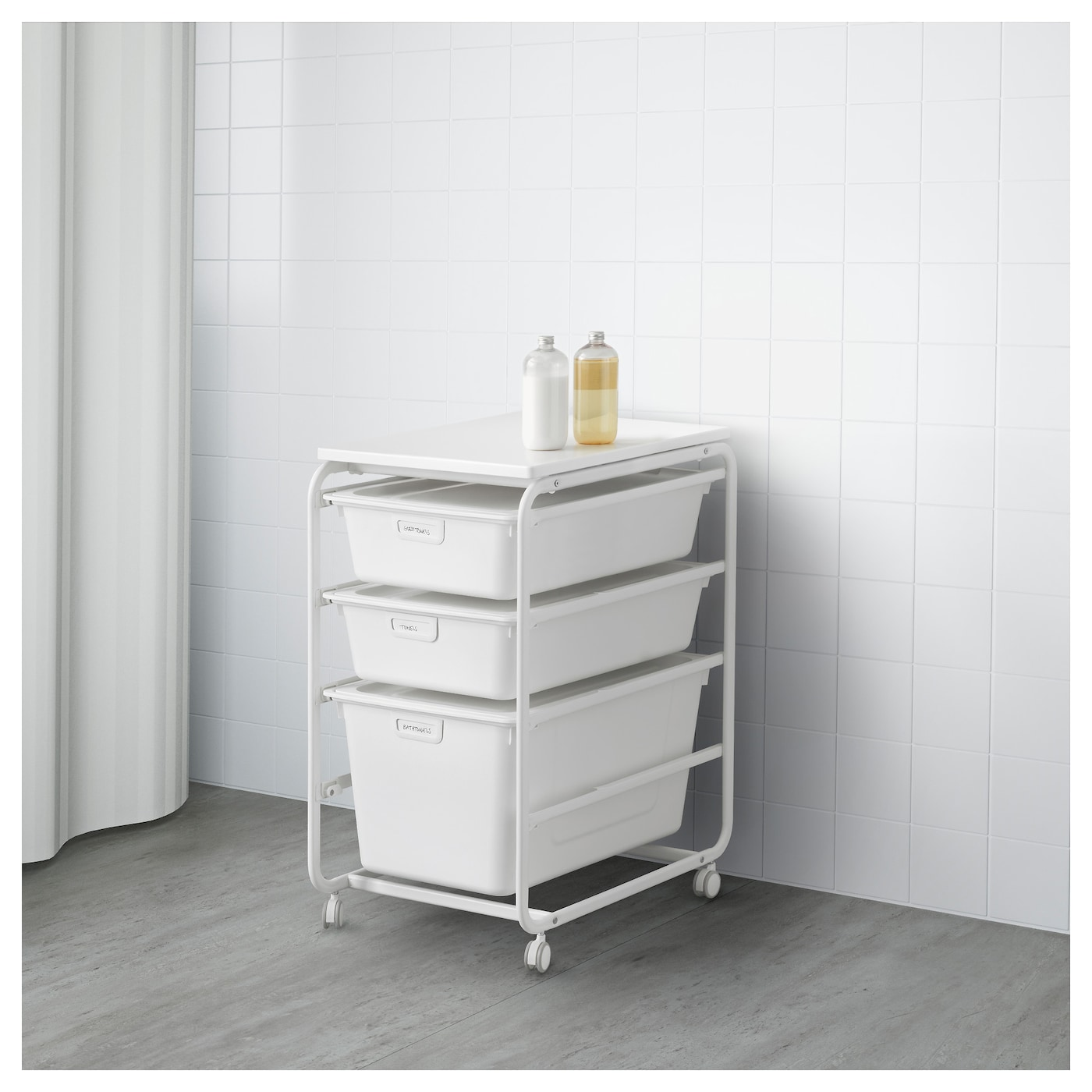 IKEA ALGOT frame/3 boxes/top shelf Can also be used in bathrooms and other damp areas indoors.
