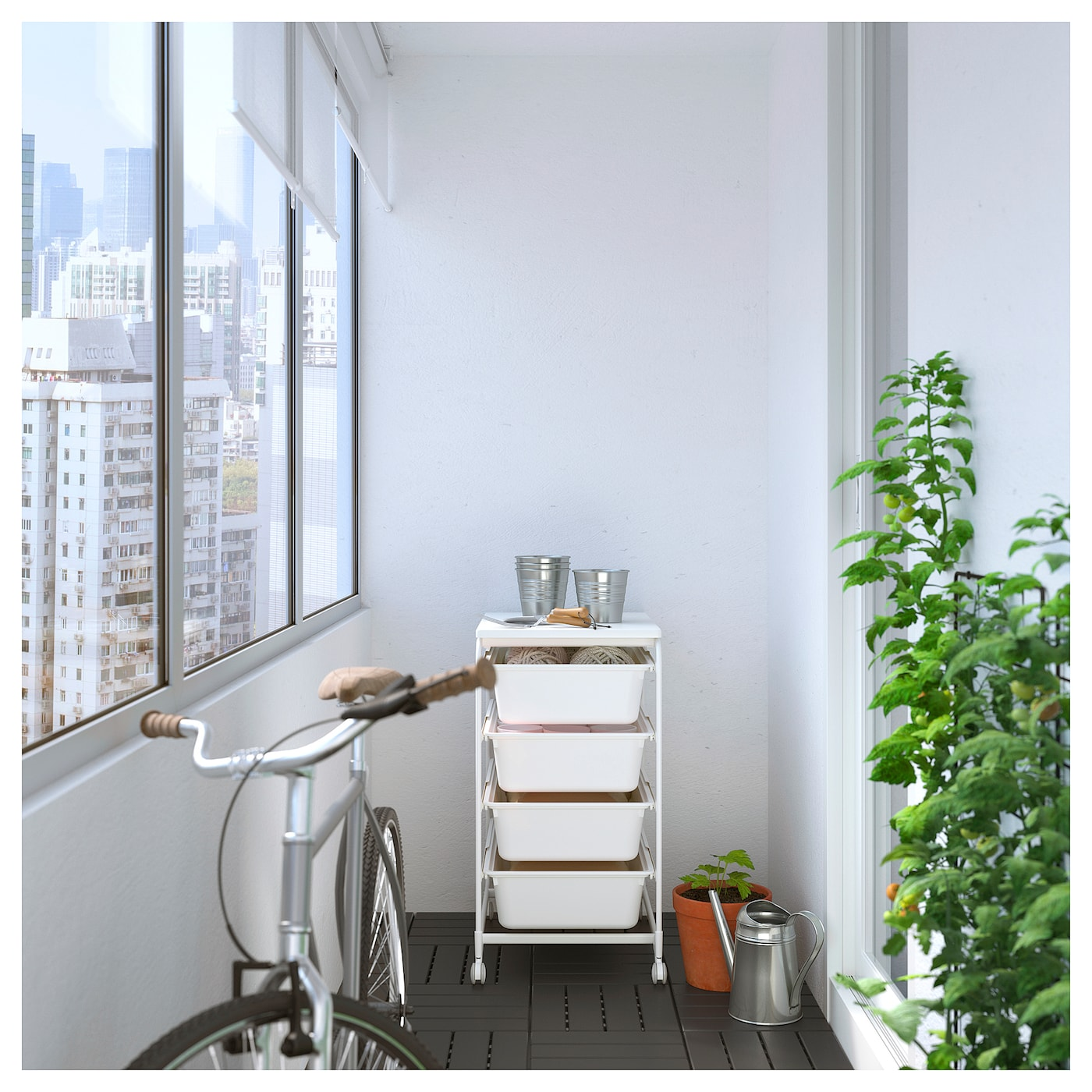 IKEA ALGOT frame/4 boxes/top shelf Can also be used in bathrooms and other damp areas indoors.