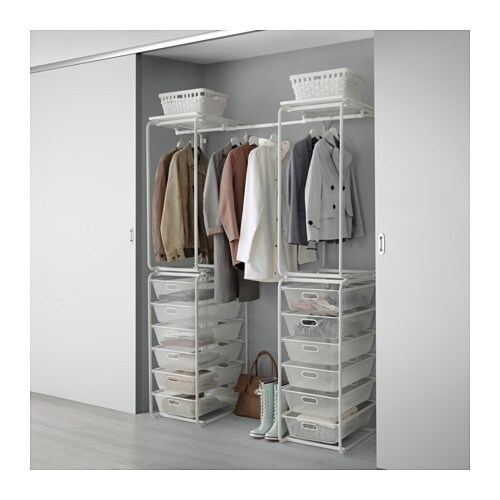 IKEA ALGOT frame/mesh baskets/rod Can also be used in bathrooms and other damp areas indoors.
