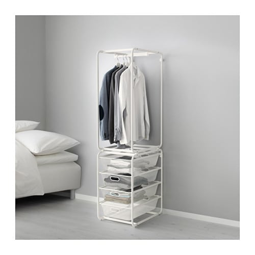 algot frame with rod mesh baskets white 174 cm ikea. Black Bedroom Furniture Sets. Home Design Ideas