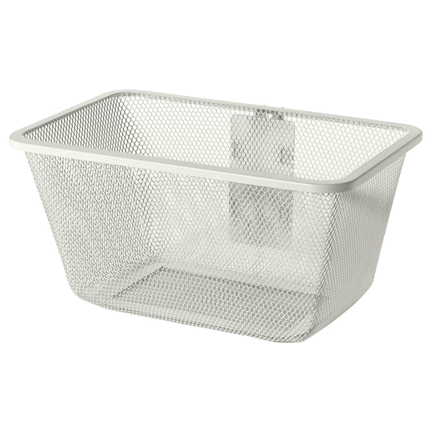 algot mesh basket with bracket white 30x22x15 cm ikea