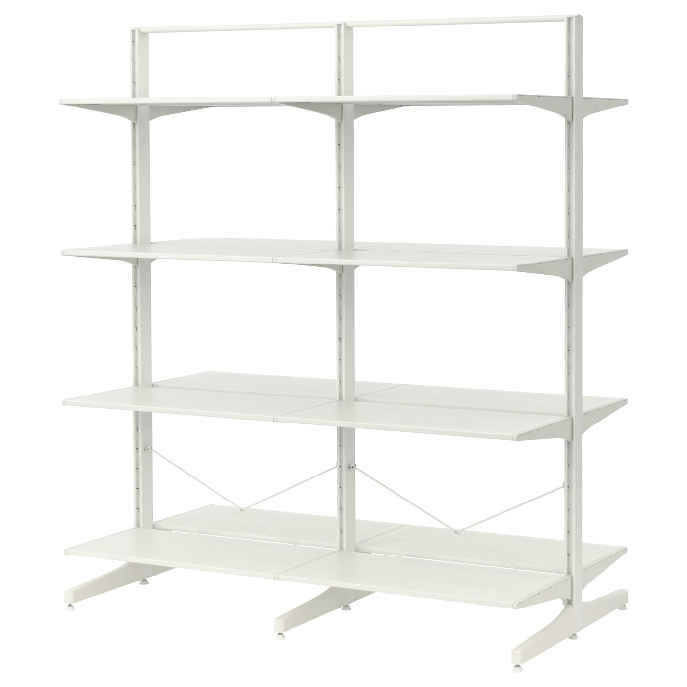algot post foot shelves metal white 167x83x194 cm ikea. Black Bedroom Furniture Sets. Home Design Ideas