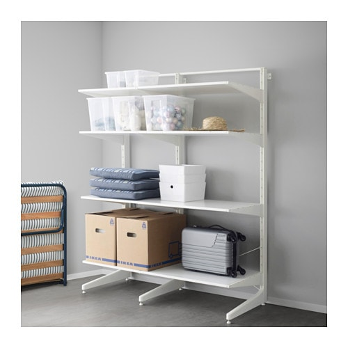 Algot Post Foot Shelves White 152x67x194 Cm Ikea