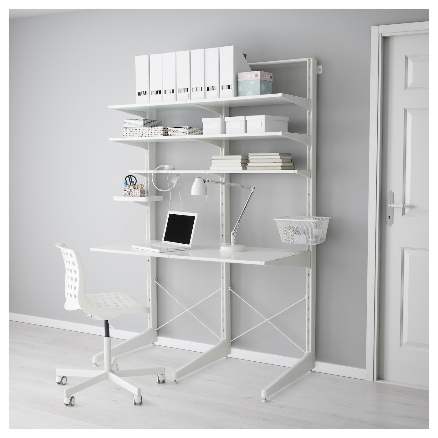 IKEA ALGOT post/foot/shelves Can also be used in bathrooms and other damp areas indoors.