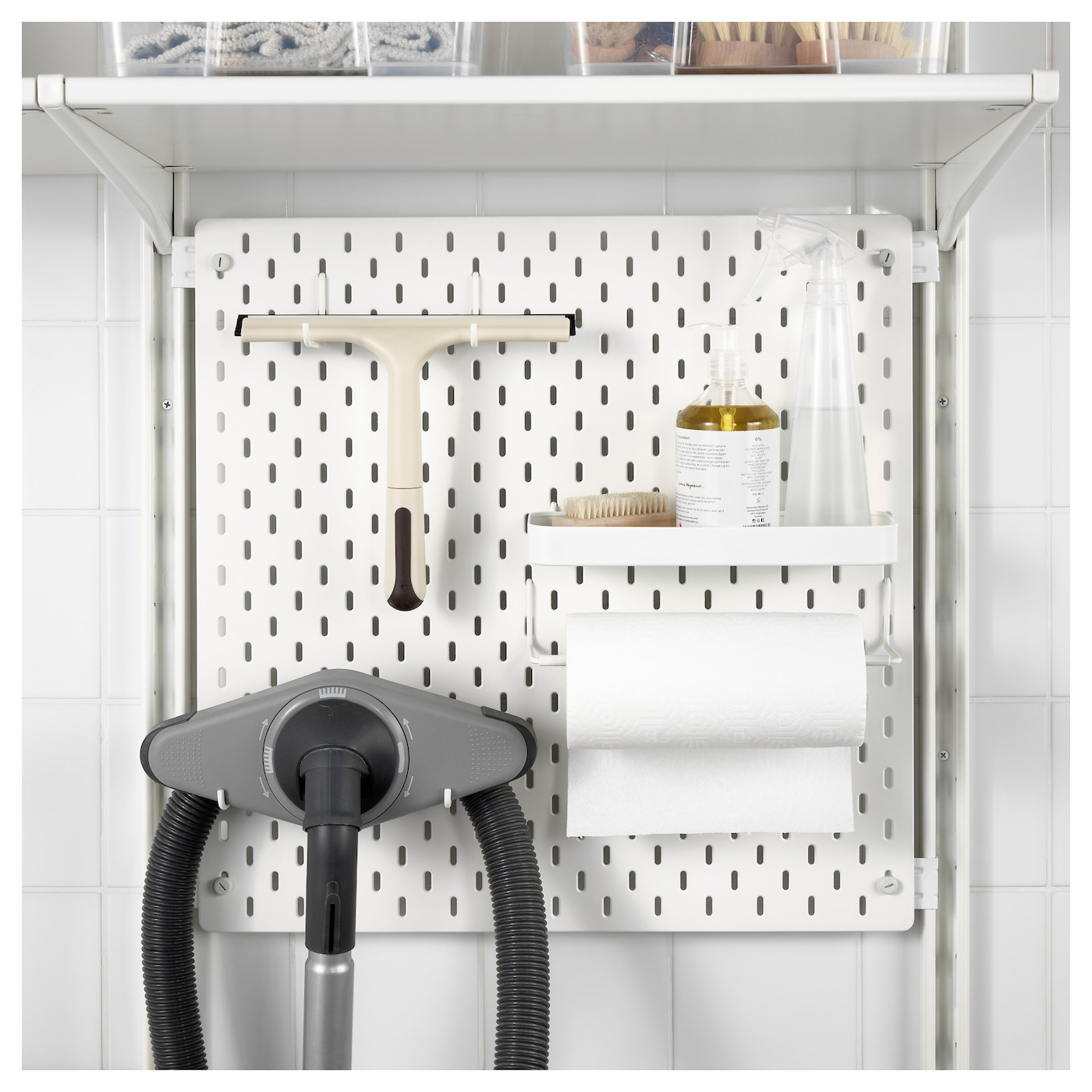 IKEA ALGOT/SKÅDIS wall upright/shelves Can also be used in bathrooms and other damp areas indoors.
