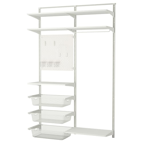 IKEA ALGOT / SKÅDIS Wall upright/shelves/rod