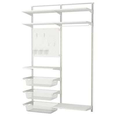 ALGOT / SKÅDIS wall upright/shelves/rod 132 cm 41 cm 199 cm