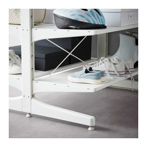 Algot top rail with cross brace white 80 cm ikea - Riel panel japones ikea ...