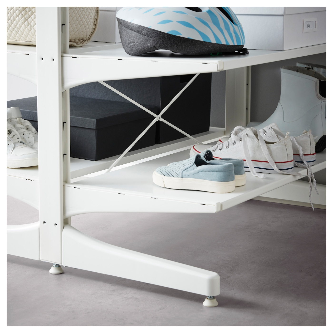 IKEA ALGOT top rail with cross-brace Can also be used in bathrooms and other damp areas indoors.