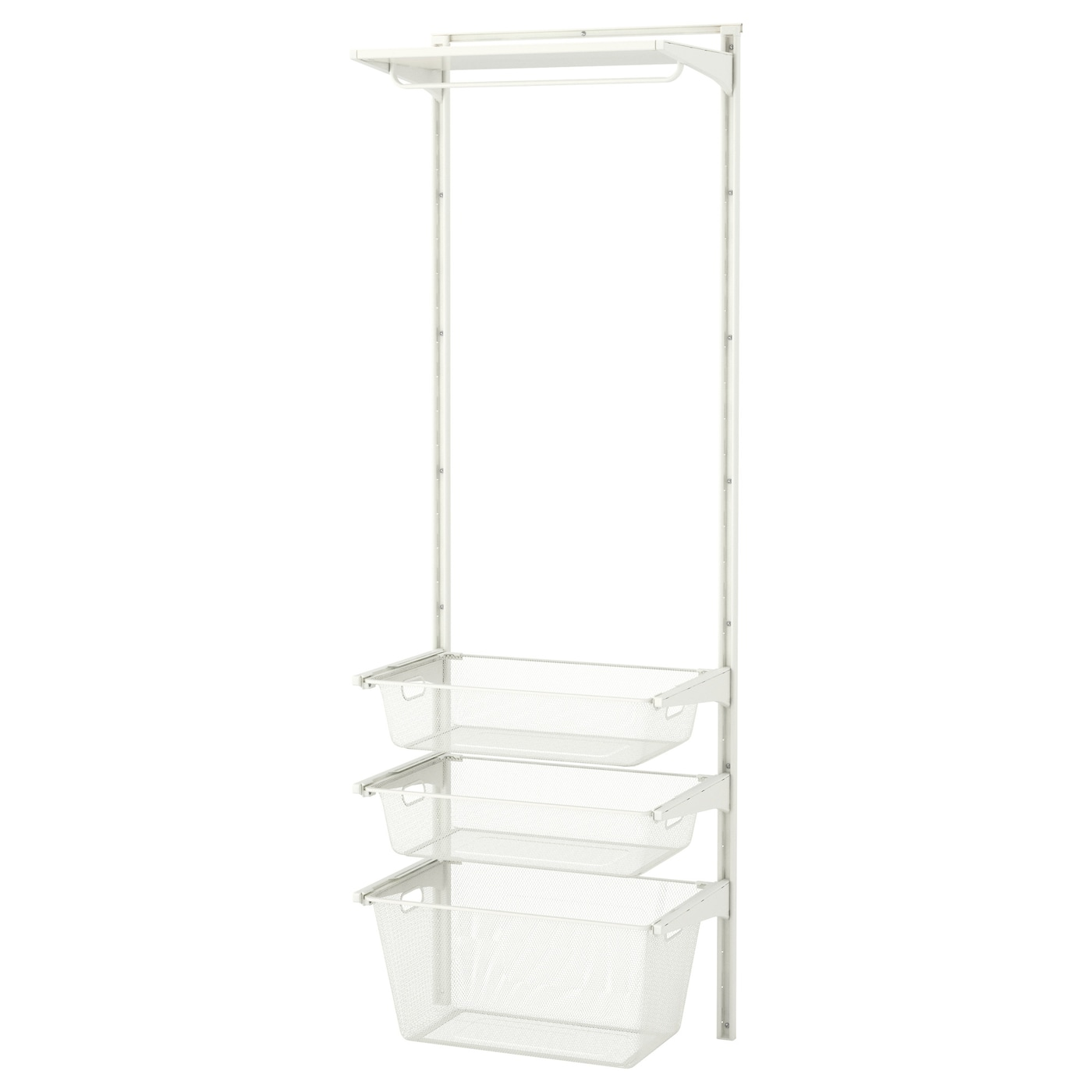 IKEA ALGOT wall upright/mesh baskets Can also be used in bathrooms and other damp areas indoors.