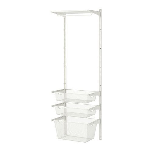 ALGOT Wall upright/mesh baskets IKEA You can build ALGOT in many ways to suit different things and spaces.
