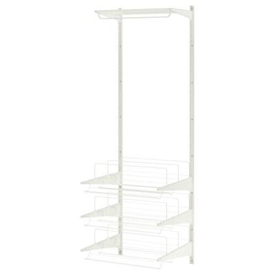 ALGOT wall upright/rod/shoe organiser white 65 cm 60 cm 196 cm