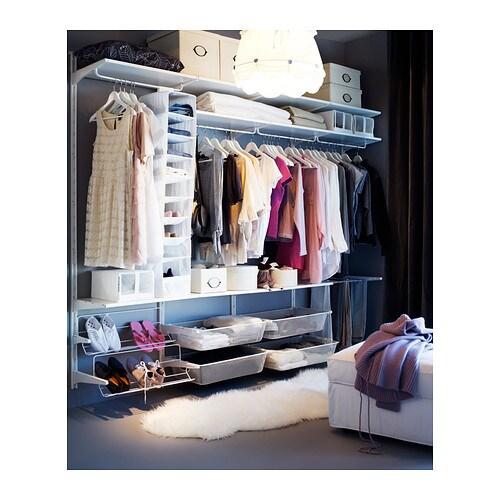 algot wall upright rod shoe organiser white 256x41x199 cm ikea. Black Bedroom Furniture Sets. Home Design Ideas